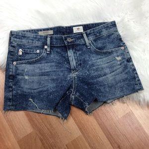 Ag The Bonnie Relaxed Cut Off Denim Jean Shorts
